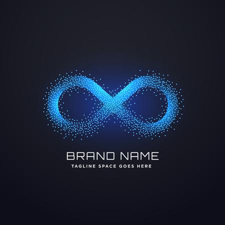 futuristic infinity logo concept design vector