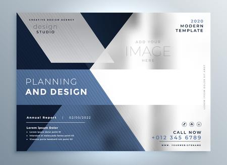abstract business flyer presentation template design Illustration