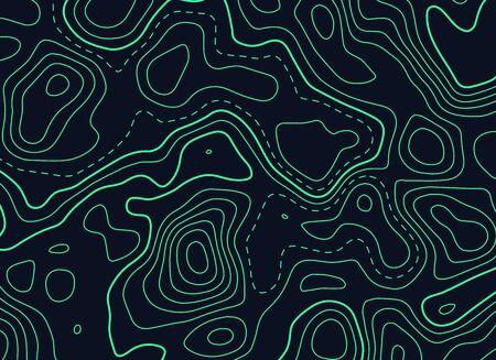 dunkler Hintergrund mit grüner topographischer Formkarte