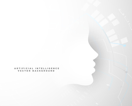 technology concept background with face shape