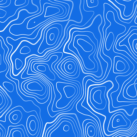 blue background with white topographic white contour lines Illustration