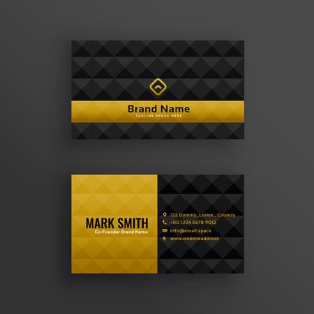 Premium luxury business card design with diamond pattern