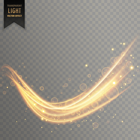 Transparent light effect in curve wavy shape