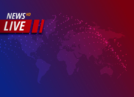 live news background with text space