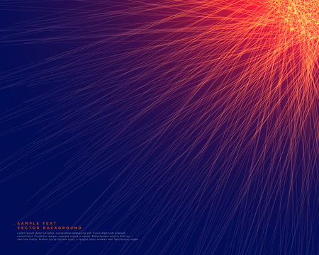 abstract blue background with glowing red lines Vectores