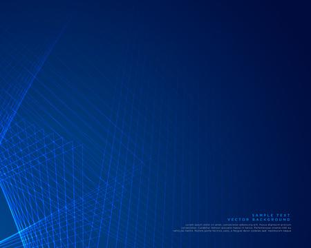 Blue lines background vector design.