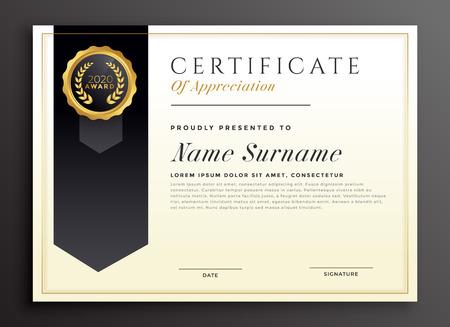 elegant diploma award certificate template design Ilustrace