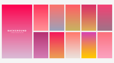 vibrant collection of gradients for mobile app Illustration