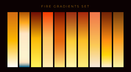 collection of fire gradient swatches Illustration