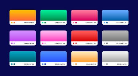 set of 12 web gradients set
