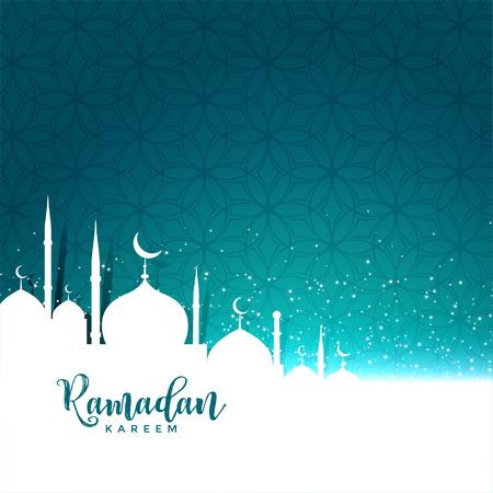 ramadan kareem festival greeting with text space Illustration