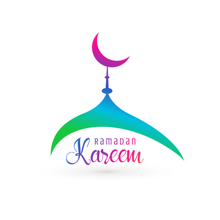 vibrant mosque design for ramadan kareem