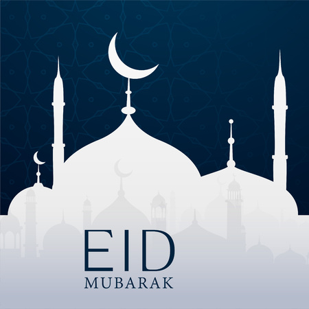 An eid Mubarak background with mosque