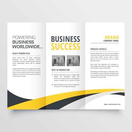 abstract modern wavy trifold brochure design background Stok Fotoğraf - 99992439