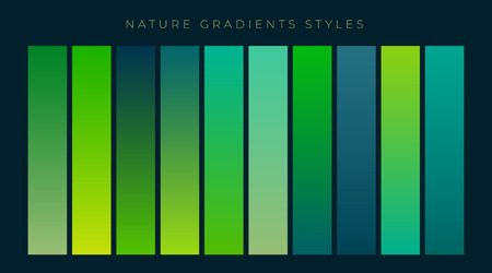 Set of fresh green gradients background Illustration