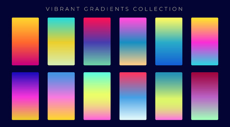 Colorful gradient abstract background set Illustration
