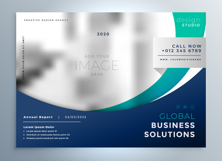 Business brochure modern presentation background