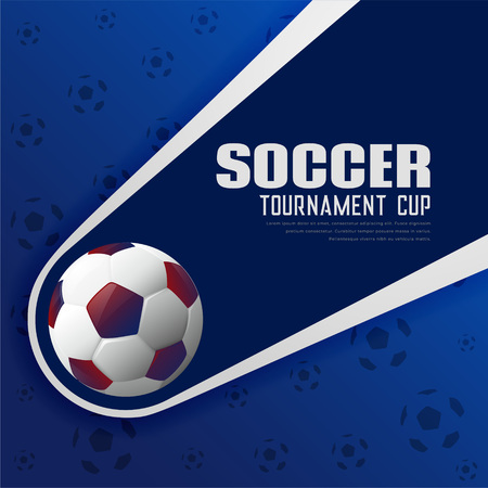 Soccer tournament football sports poster background