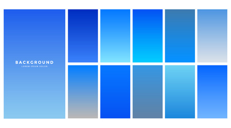 collection of blue sky gradients background