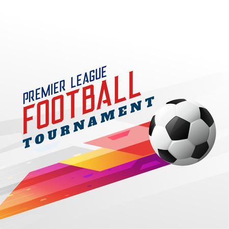Fondo de torneo de fútbol de fútbol abstracto