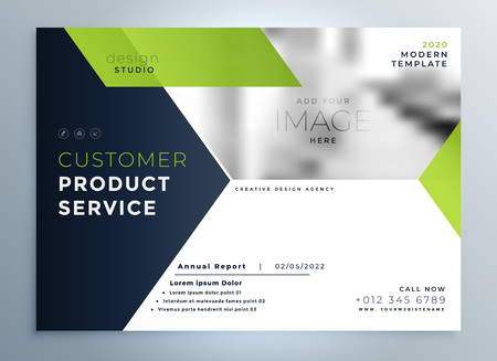 creative green modern brochure flyer template presentation 스톡 콘텐츠 - 101724191