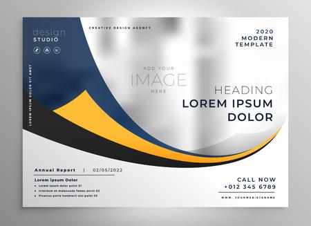 folleto de presentación de negocios moderno diseño de volante