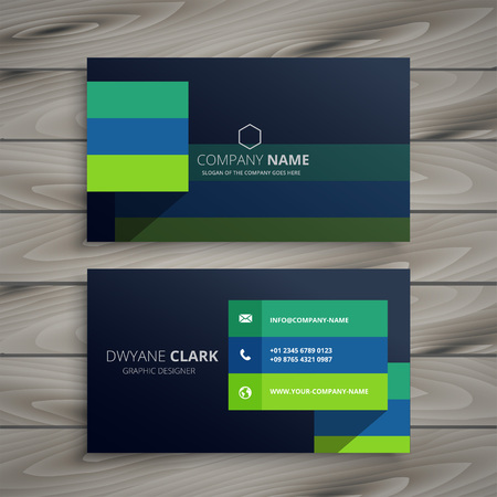 modern dark professional business card design Stock Illustratie