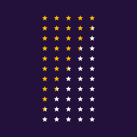 vector star rating symbol icons Banque d'images - 102746616