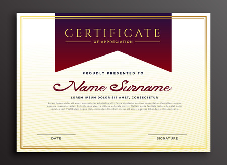 certificate of appreciation business template Illustration