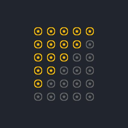 set of elegant start rating symbols Banque d'images - 102746889