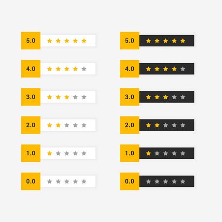 buyer star rating set of symbol Banque d'images - 102746897