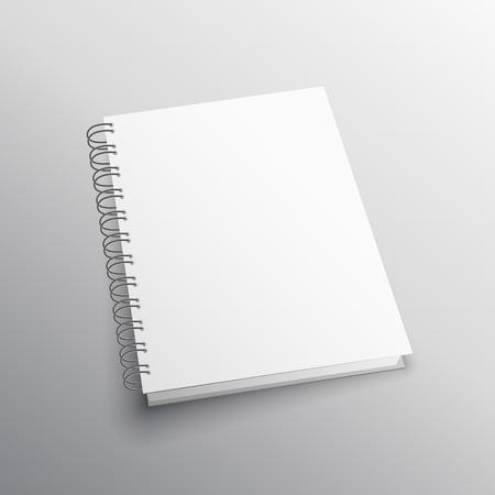 double loop binding book mockup template