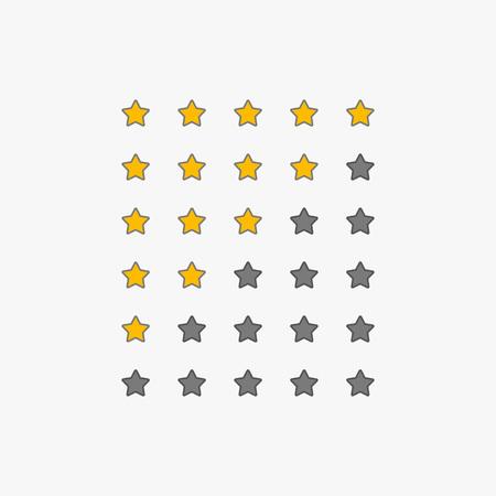 set of star rating symbols Banque d'images - 102746921