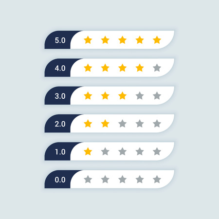 customer feedback star rating symbol Banque d'images - 102746975