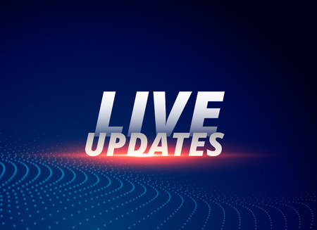 news background with text live updates Иллюстрация