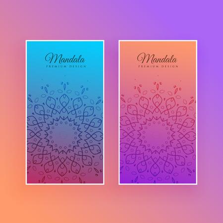 colorful mandala beautiful card design Stock Vector - 103235697