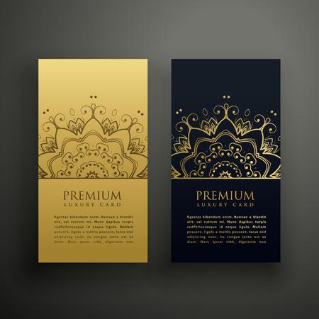 luxury mandala style card design