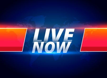 live now streaming news background