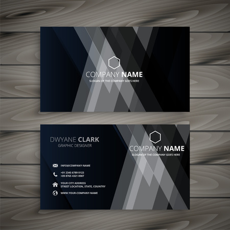 dark abstract creative business card Stock Illustratie