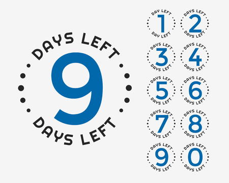 number of days left badge or sticker design