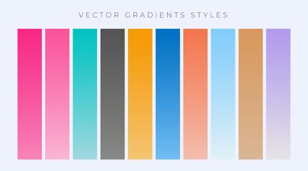 modern set of simple gradients set