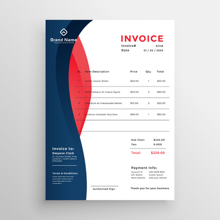modern professional invoice template design