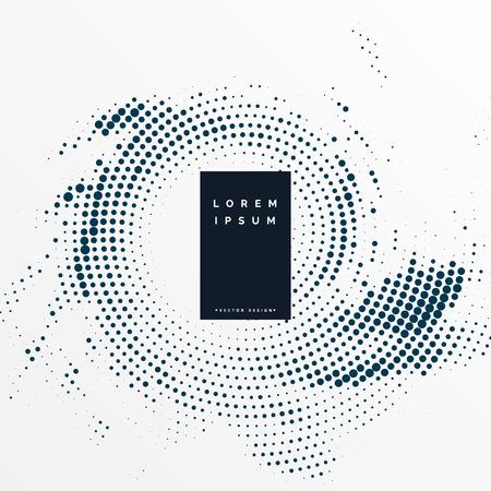 Fondo de diseño de marco de semitono abstracto