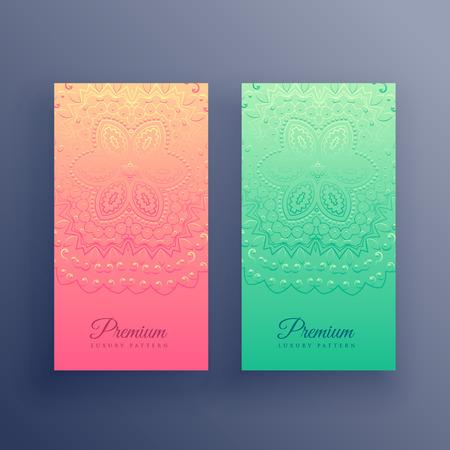 stylish colorful mandala cards design Stock Vector - 104385874