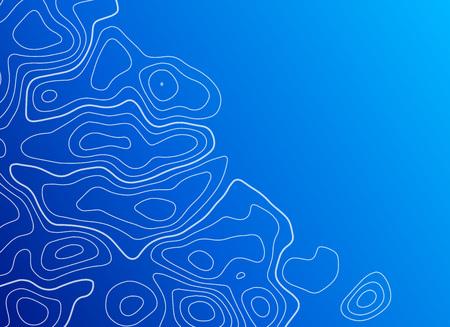blue background with topographic contour Ilustração
