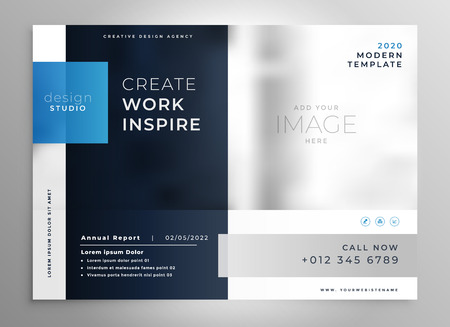 modern blue presentation business template