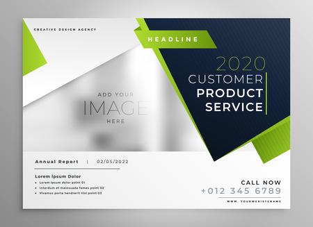 professional green business brochure design