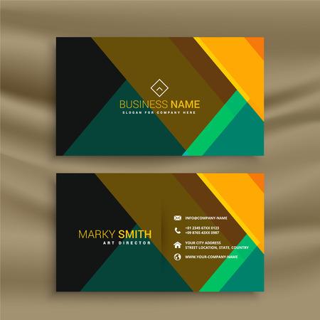 diseño de tarjeta de visita moderna geométrica Ilustración de vector