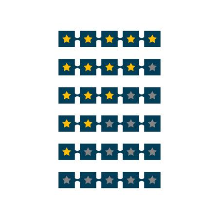 5 star rating symbol design Banque d'images - 114937393