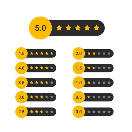 set of star rating symbol design Banque d'images - 114937416